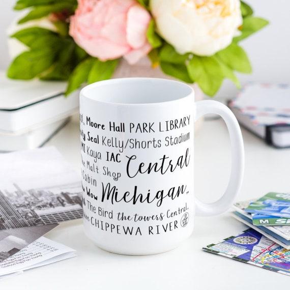Burgundy Central Michigan University 16-ounce Ceramic Coffee Mug