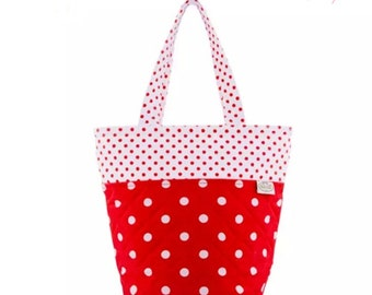 Funicul  Dual Tone Polkadot Bag / Birthday gift / Gift for her / Gift for mom