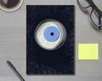 Iris Notebook- Optometry Eyeball Journal, and Log - Agenda, Planner, Diary, and Sketchbook, Optometrist Gift. Gag Gift.