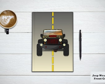 CUSTOM JEEP WRANGLER Journal and Notebook. Travel Planner, Wanderlust, Off Road Gifts, Adventure Book and Stationery Notebook.