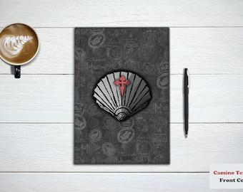 CAMINO DE SANTIAGO gift, Journal and Notebook. Plain Camino Shell, or With Knights Templar Cross, For Pilgrims. Memoir Book, Travel Notebook