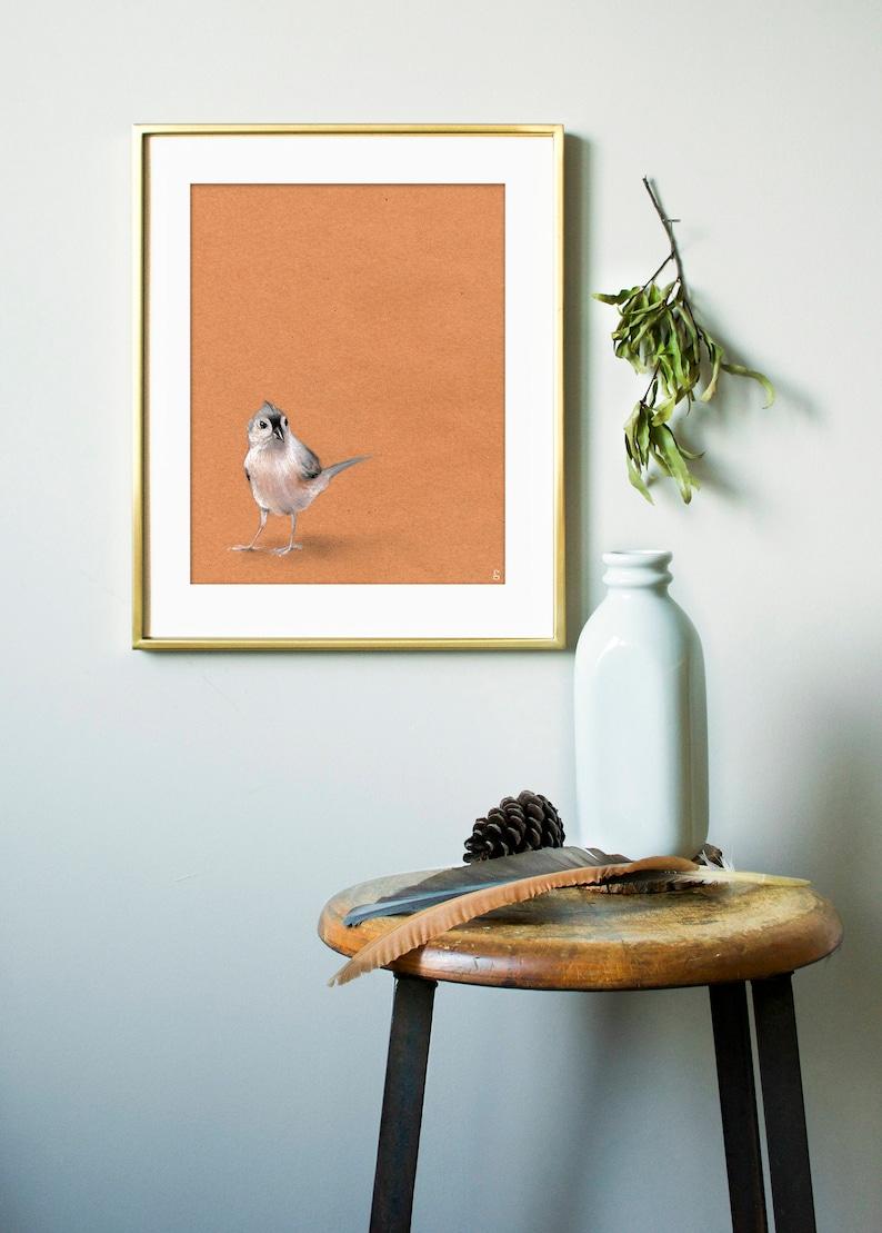 Titmouse Bird Art Print  Wildlife Art Print  Outdoor Gift  image 0