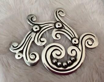 Vintage Mericela Taxco Sterling Silver Brooch