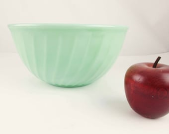 """Missing a Nesting Bowl? - Fire-King Jadeite Green - 9"""" Mixing Bowls -  'Swirl' Pattern Bowl - Largest in 3 or 4 Bowl Set"""
