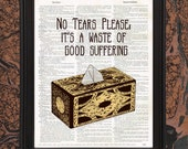 Pinhead Quote Art Hellraiser Tissue Box Print No Tears Please It's A Waste of Good Suffering Horror Movie 80's Puzzle Box Lament Cube
