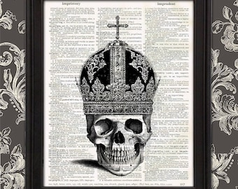 Bishop of the Dead - Dead Royals skull crown gothic spooky halloween home decor christian gifts undead church weird wall art gift for men