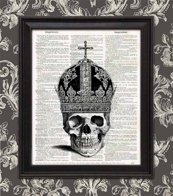 Bishop of the Dead Dead Royals skull crown gothic spooky | Etsy