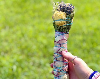 Ceremonial Smudge - Roses - Cedar - Juniper - Lavender