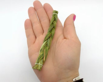 Sweetgrass - Travel Smudging - Mini Braid - Native American - Smudging - Spiritual Cleansing - Remove Unwanted Energies - Ceremonial