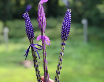 Woven Lavender Wands - Sold Individually - Grosso Lavender - Highly Fragrant - Organic Lavender