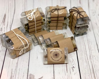 Gift Set Herbal Vegan Soaps - Lavender, White Sage, Mint, Rose, and Cedar - 5 Soaps - Handmade Soap