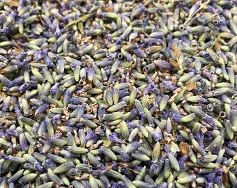 French Lavender Buds - Dried Grosso Lavender Buds - 1oz - Very Fragrant - For Medicinal Uses, Sachets, Crafts