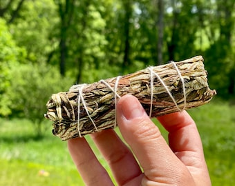"Yerba Santa Smudge Stick - Sold Individually - 5"" - Organic - Sustainably Harvested - 100% Yerba Santa"