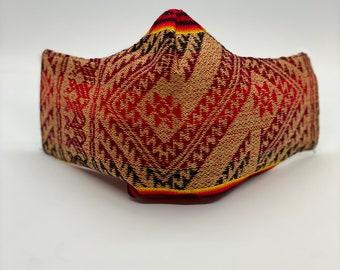 Organic Cotton Face Mask - Native American Face Mask - Handmade - Reusable Washable Mask
