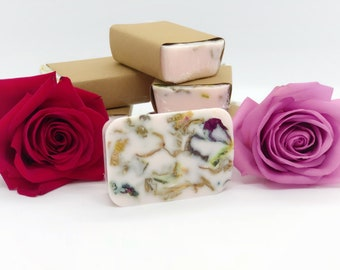 Rose Soap - Organic Soap - Vegan Soap - Fresh Rose - Pure Rose Essential Oil