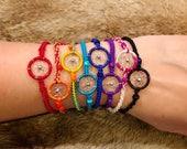 Dreamcatcher Bracelet - Sold Individually - Friendship Bracelet - Raksha Bracelet - Woven Bracelet - Dream Catcher Bracelet - You Choose Col