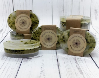 Vegan Foot Care Soap - Therapeutic Grade Essential Oils - Dead Sea Salt - Pumice - Organic Mint - Tea Tree - Avocado Oil