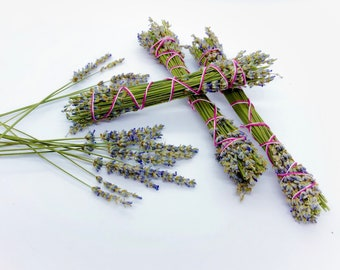 Lavender Smudge Bundles - Grosso French Lavender - Choose Size - Sold Individually - Highly Fragrant - Lavender Smudge Wands