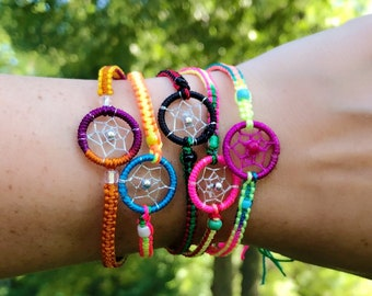 Dreamcatcher Friendship Bracelet - Sold Individually - Multi Color - Chosen Randomly - Raksha Bracelet -Adjustable Size