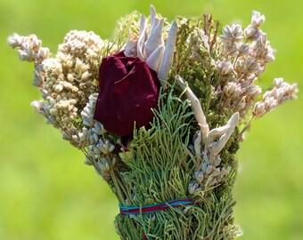 Ceremonial Smudge - Cedar - Yarrow - Lavender - Roses - White Sage - Pine - Juniper