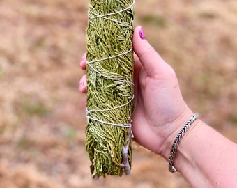 Large Cedar Smudge Sticks - Sold Individually - Organic - Native American - Wild Harvested