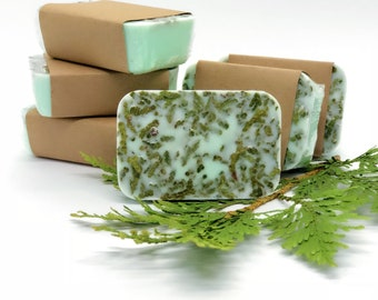 Organic Vegan Soap - Tea Tree & Cedar - All Natural - Handmade - Lightly Exfoliating - Moisturizing