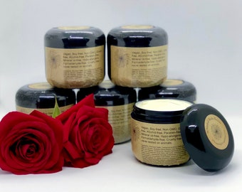 Pure Rose Organic Body Cream - Vegan Body Butter - Pure Rose Essential Oil