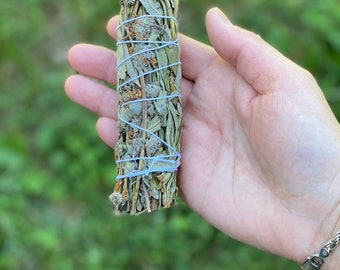 "Mugwort Smudge Bundles - Organic - 4"" - Sold Individually"