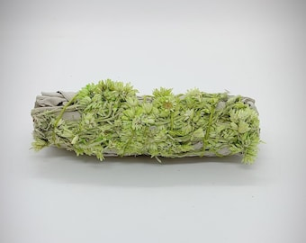 "White Sage and Green Mullein Smudge Stick - 4"" - Organic"