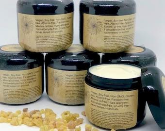 Frankincense & Myrrh Organic Body Cream - Vegan Skincare - Whipped Body Butter - Therapeutic Grade Essential Oils