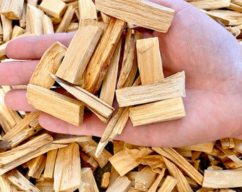 Small Palo Santo Pieces for Single Use - 2oz Bag of Assorted Pieces