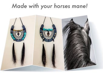Use Your Own Horse Hair For A Custom Dreamcatcher - Horseshoe Style - Custom Orders For Your Preference - Native American Made