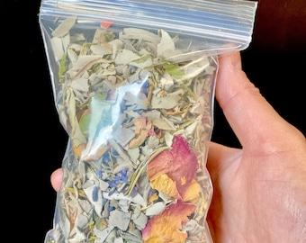 Smudge Mix - White Sage - Lavender - Roses - Cedar - Juniper - Eucalyptus- Rosemary