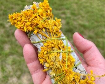 White Sage and Yellow Mullein Smudge Sticks - Wild Harvest - Organic