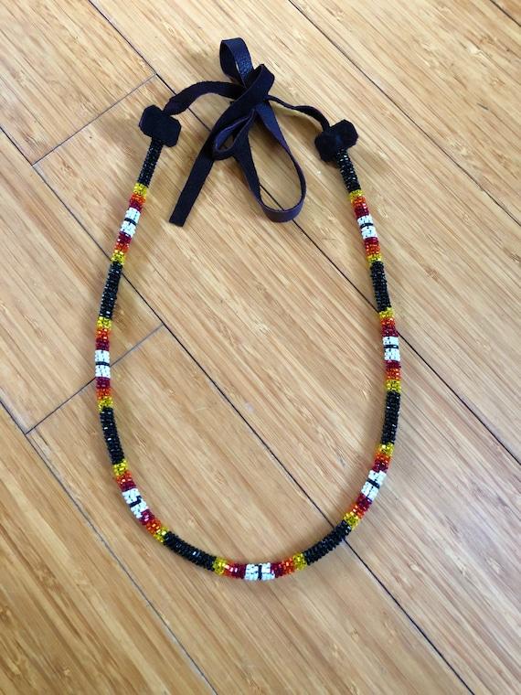 Native American Kralen Ketting Kraaltjes Touw Ketting Etsy