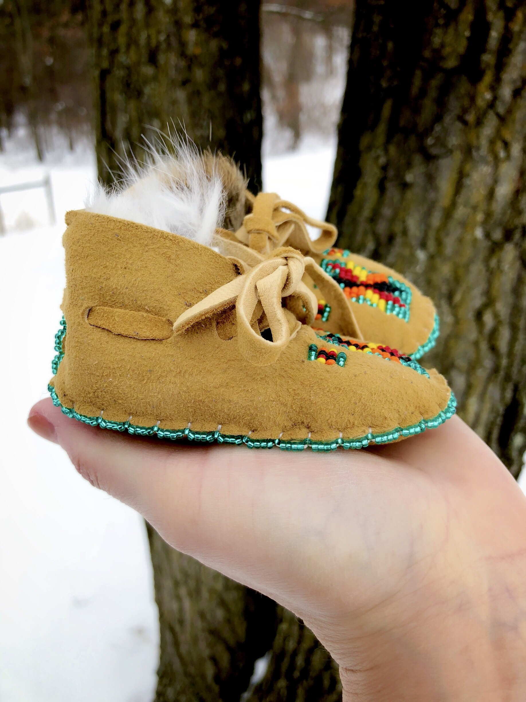 Baby Moccasins - Beaded Moccasins