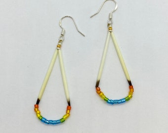 Porcupine Quill Earrings - Native American Made