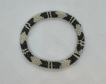 Beaded Bracelet - Slides on Easily - Handmade