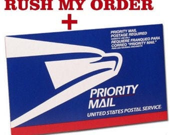 Rush Order Service + Priority Shipping 2-3 Day Service