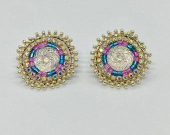 Native American Made Earrings - Beaded Earrings - Powwow Earrings