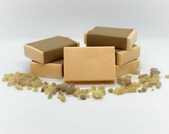 Frankincense & Myrrh Soap - Organic Soap - Handmade Soap - Masculine Scent -  Vegan Soap - Natural Soap