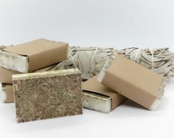 White Sage Organic Soap -  Vegan Soap - All Natural Soap - Exfoliating Soap - Handmade Soap