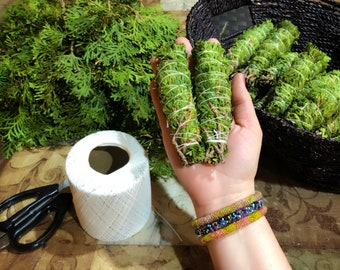 Cedar Smudge Bundles - Organic - Sustainably Harvested - Native American - Protection Smudging - Ritual Smudge - White Cedar