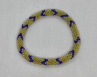 Beaded Bracelet - Slides on Easily - Handmade - Fits Most Wrists