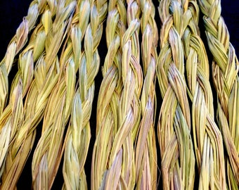 Sweetgrass Braid - Sold Individually - Native American - Smudging - Ceremonial Sweetgrass - Traditional Native American - Organic Sweetgrass