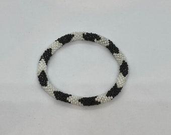 Beaded Bracelet - Slides on Easily - Handmade- Fits Most Wrists