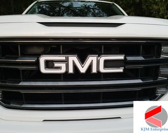 *07-19  GMC Sierra Yukon Carbon Fiber Front Grill Emblem Overlay Kit 1500 decal