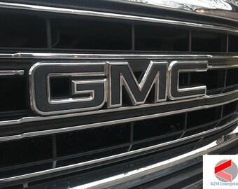 GMC Sierra Emblem Overlay Decal GLOSS BLACK  013dc358691e