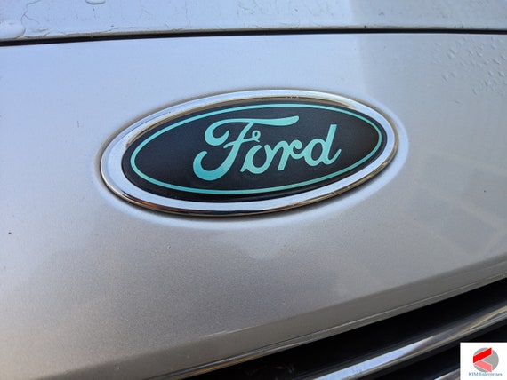 DECAL OVERLAYS Fits 13 14 15 16 17 FUSION ford oval emblem BLACKOUT STICKER
