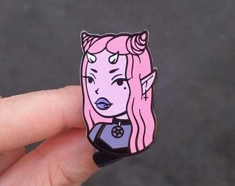 e0eda90ff Devil Girl enamel pin